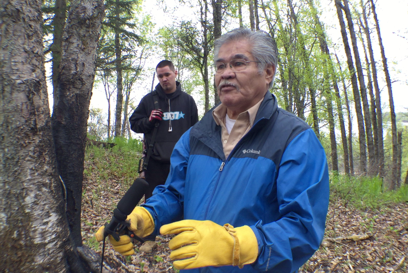 Al Goozmer, president of the Native Village of Tyonek, explains the significance of land donated to the tribe by The Nature Conservancy.