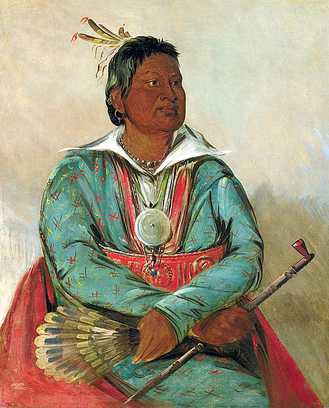 Mosholatubbee was a candidate for Congress in 1830. Elections are important. but not the only route to democratic representation. (Painted by George Catlin in 1834, Smithsonian.)